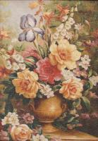 Цветы натюрморты на гобелене