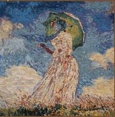Дама с зонтом (прямоугольная)