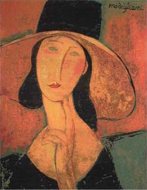 Женщина в шляпе Модельяни